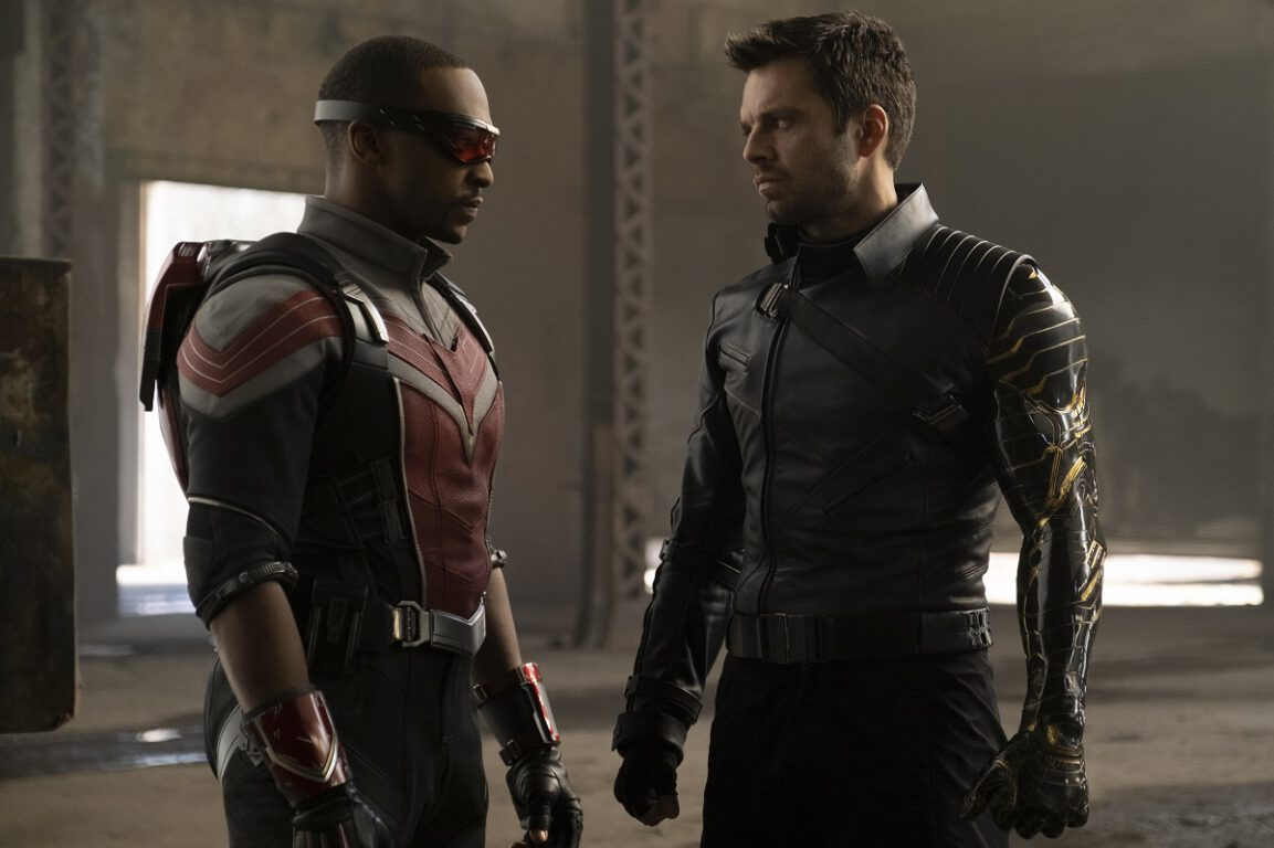 Still of Anthony Mackie and Sebastian Stan in The Falcon and the Winter Soldier.