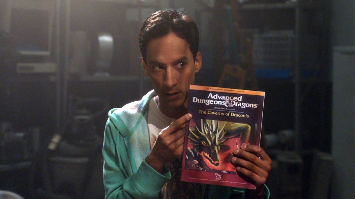 """Still of Danny Pudi as Abed Nadir in Community episode """"Advanced Dungeons & Dragons."""""""