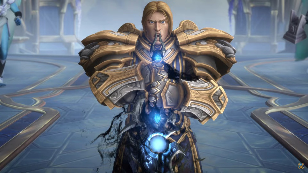 Anduin with his corrupted sword in Elysian Hold.