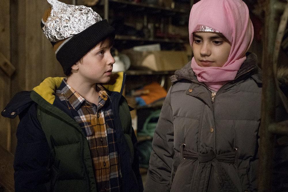 "Still of Judah Prehn and Gracelyn Awad Rinke in Resident Alien episode ""Birds of a Feather."""