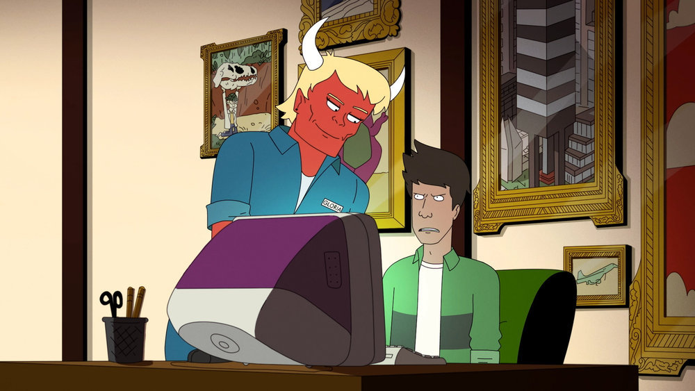 Photo of Gloria (voiced by Stephanie Beatriz) and Beans (voiced by Asif Ali) in Devil May Care.