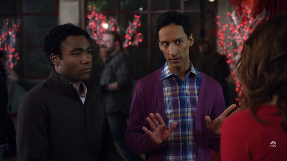 "Still of Donald Glover and Danny Pudi in Community episode ""Early 21st Century Romanticism"""