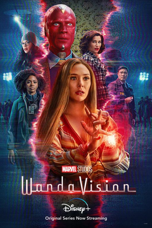 WandaVision poster for its mid-season on Disney Plus.