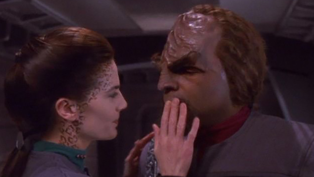 Worf and Jadzia Dax in Star Trek: DS9