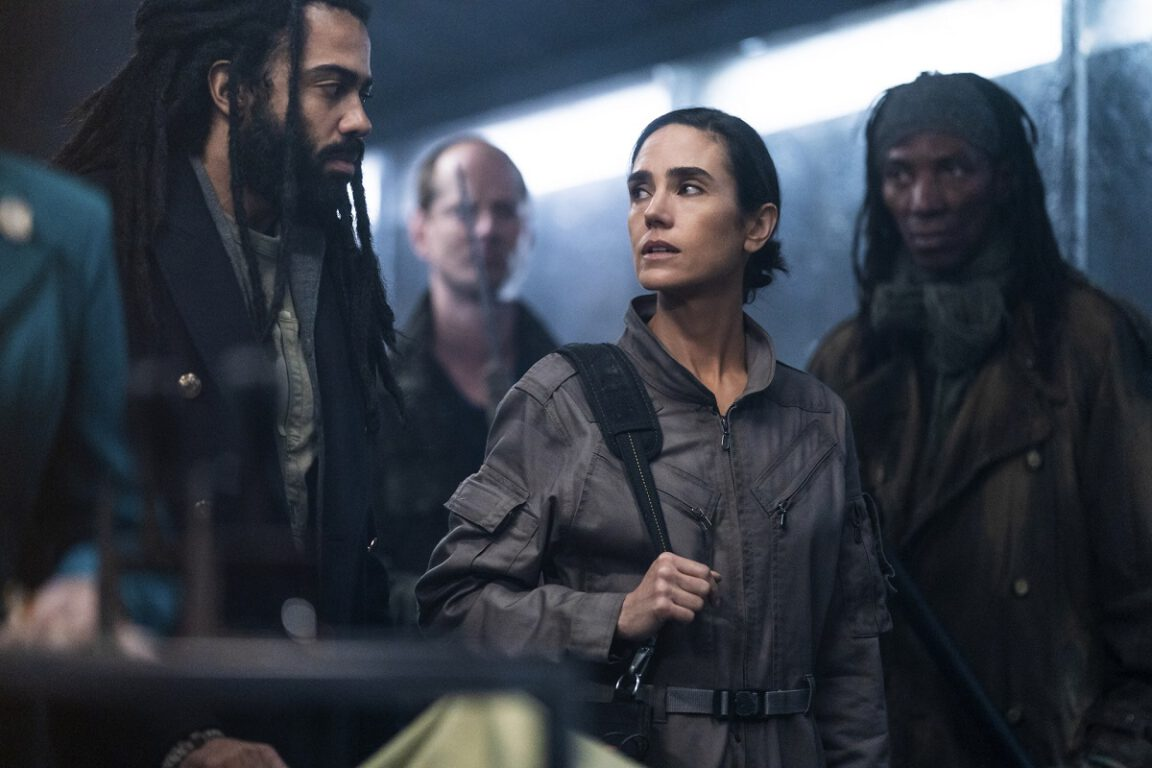 """Still of Daveed Diggs and Jennifer Connelly in Snowpiercer episode """"A Great Odyssey."""""""