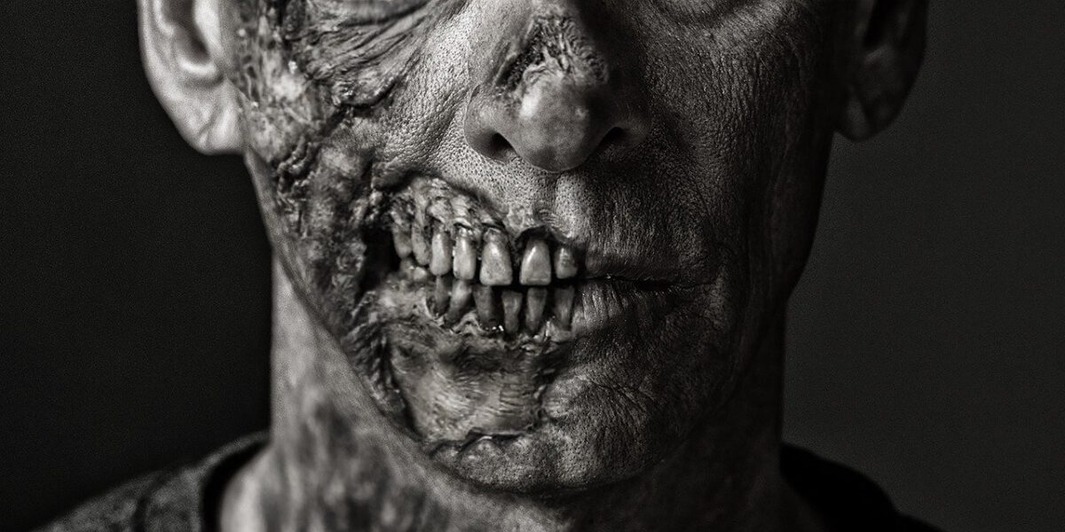 partial zombie face horror love story