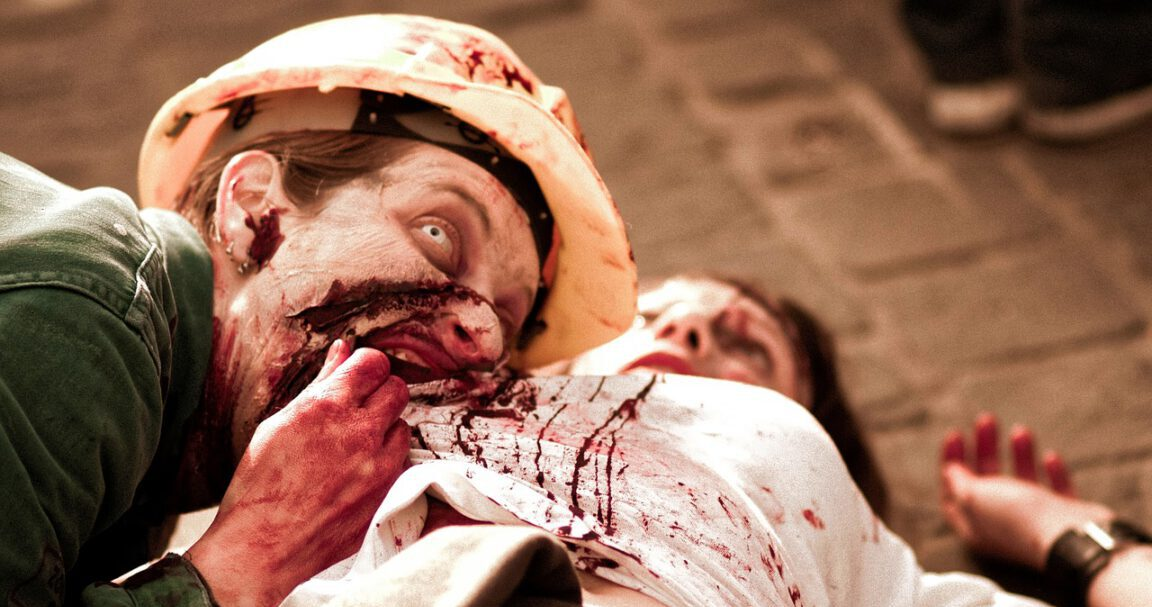 zombie eating woman horror love story