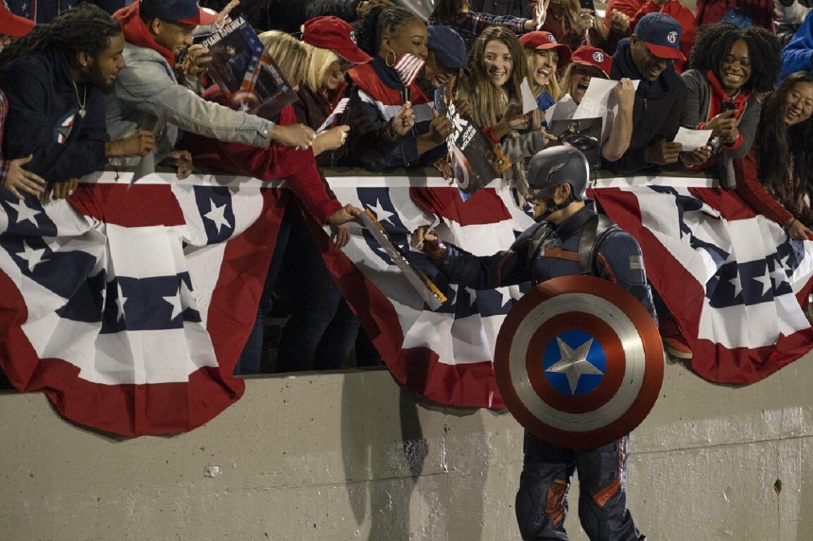 """Still of Wyatt Russell in The Falcon and the Winter Soldier episode """"The Star-Spangled Man."""""""