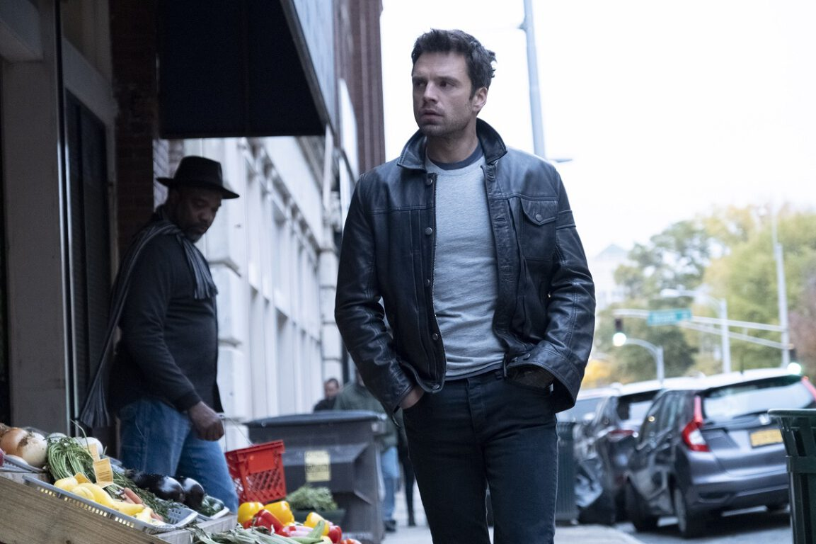 """Still of Sebastian Stan as Bucky Barnes in The Falcon and the Winter Soldier episode """"New World Order."""""""