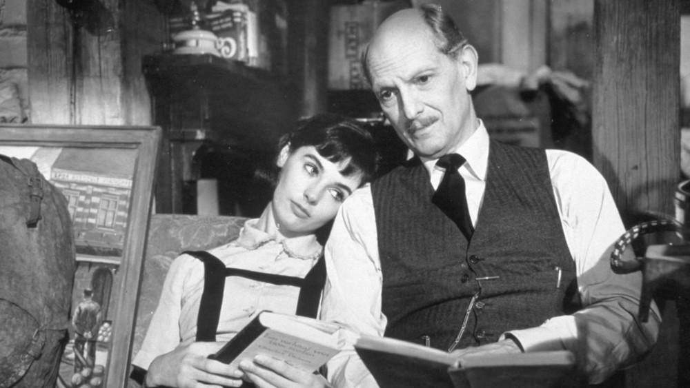 Anne Frank (Millie Perkins) and her father Otto Frank (Joseph Schildkraut).
