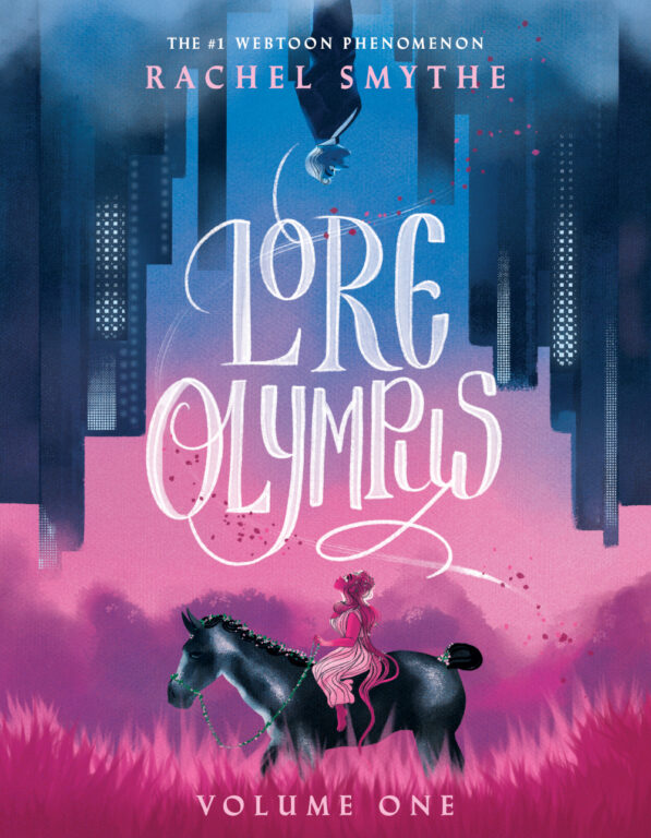 The offical cover for Lore Olympus Volume 1