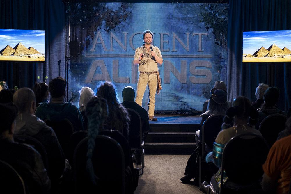 "Still of Giorgio A. Tsoukalos in Resident Alien episode ""Welcome Aliens."""