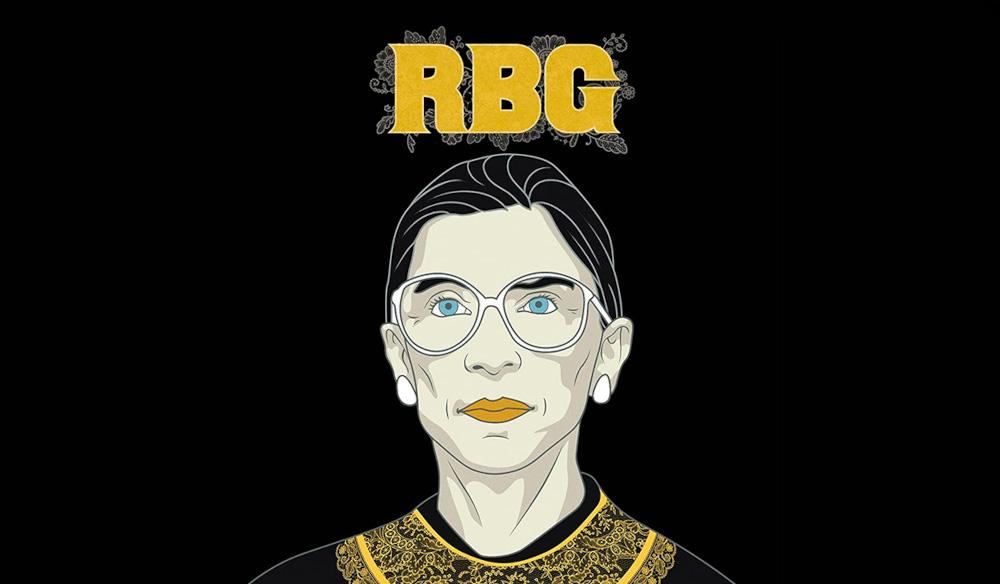 Logo art for the film RBG