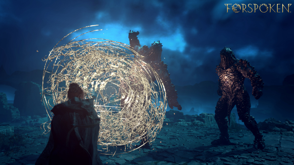 Frey using her powers to make a shield in Forspoken.