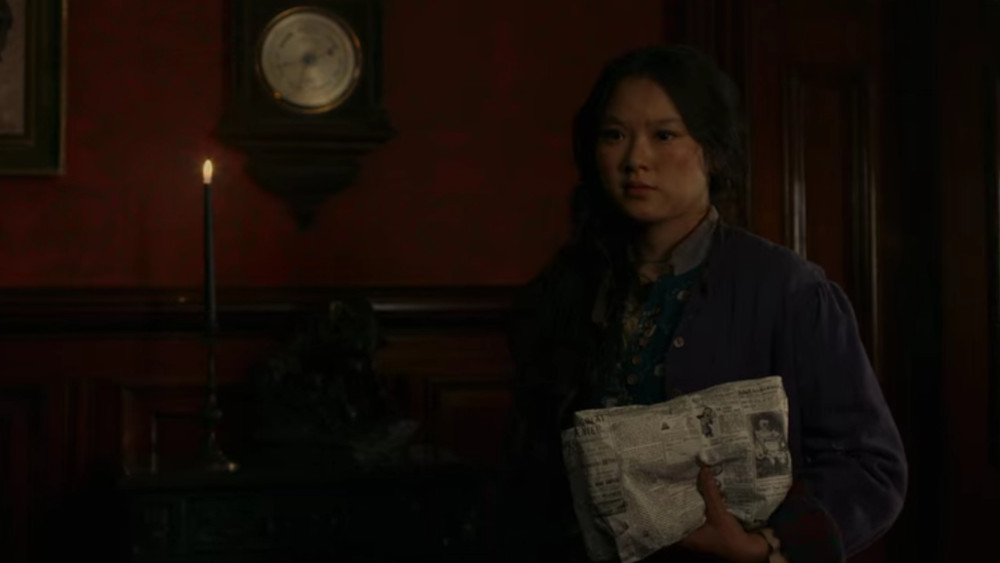 Bea checking in on Watson at 221B in The Irregulars.