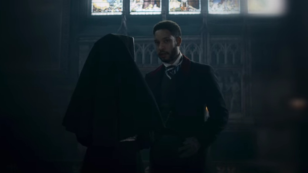 Watson meeting with Sister Anna after Alice died in The Irregulars.