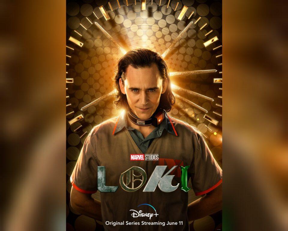 Still of Tom Hiddleston in the official poster for Marvel series Loki.