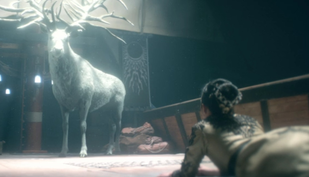 Alina have a vision of the Stag in Shadow and Bone.