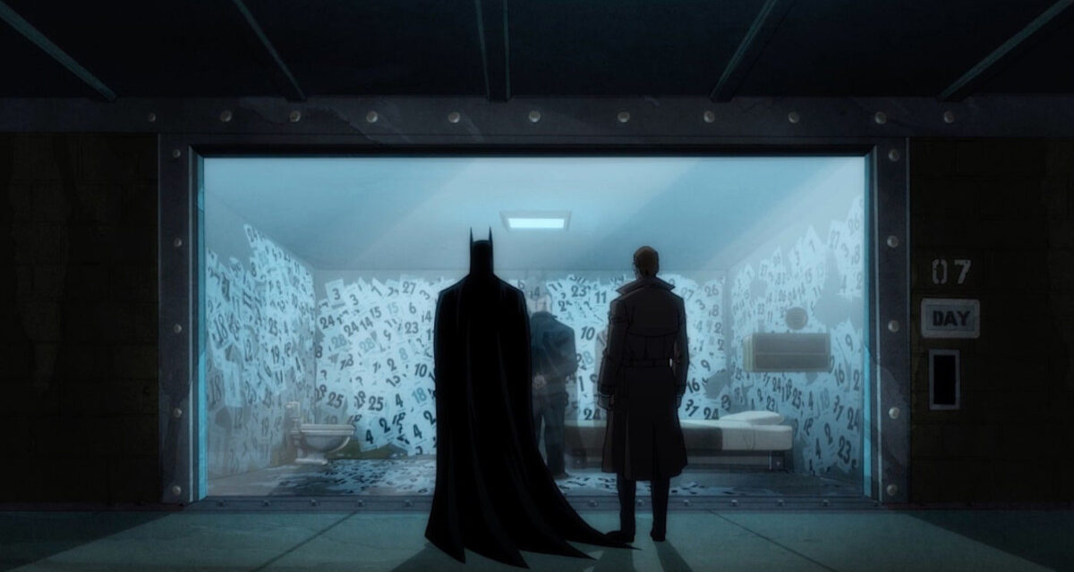 Batman and Gordon meeting with the Calender Man.