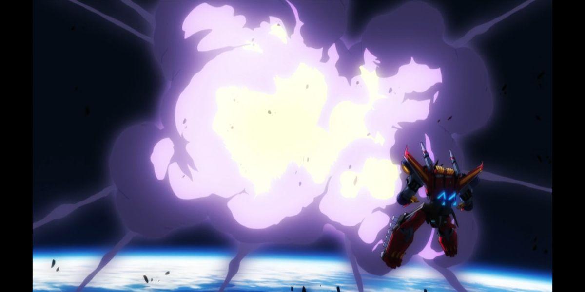 The Dynazenon destroying a kaiju (SSSS.DYNAZENON, season 2, episode 3)