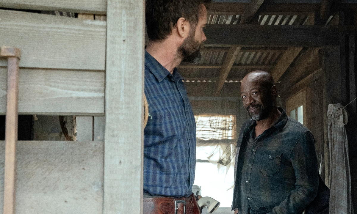 Morgan tries to convince John to leave with him on Fear the Walking Dead