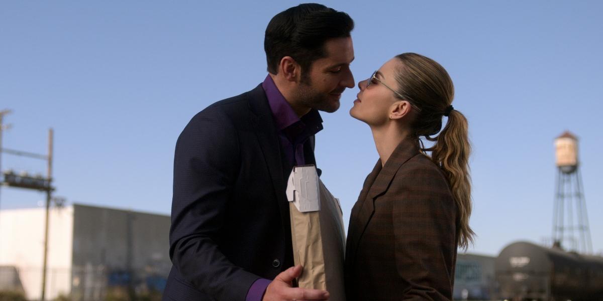 Lucifer and Chloe share a sweet kiss