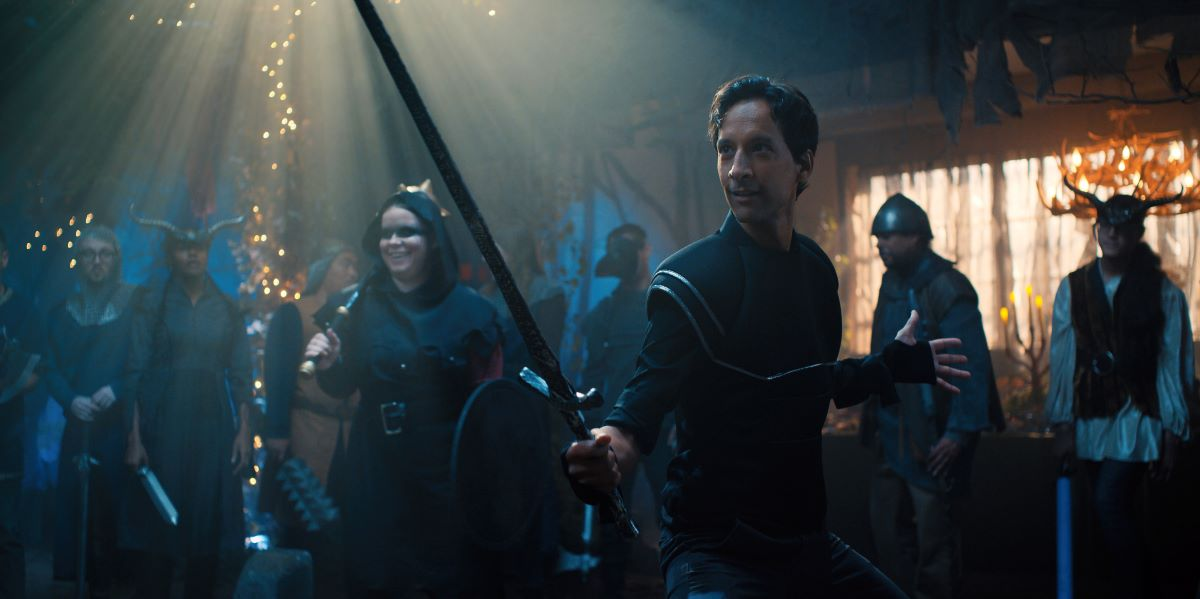 """Still of Danny Pudi in Mythic Quest episode """"Everlight."""""""