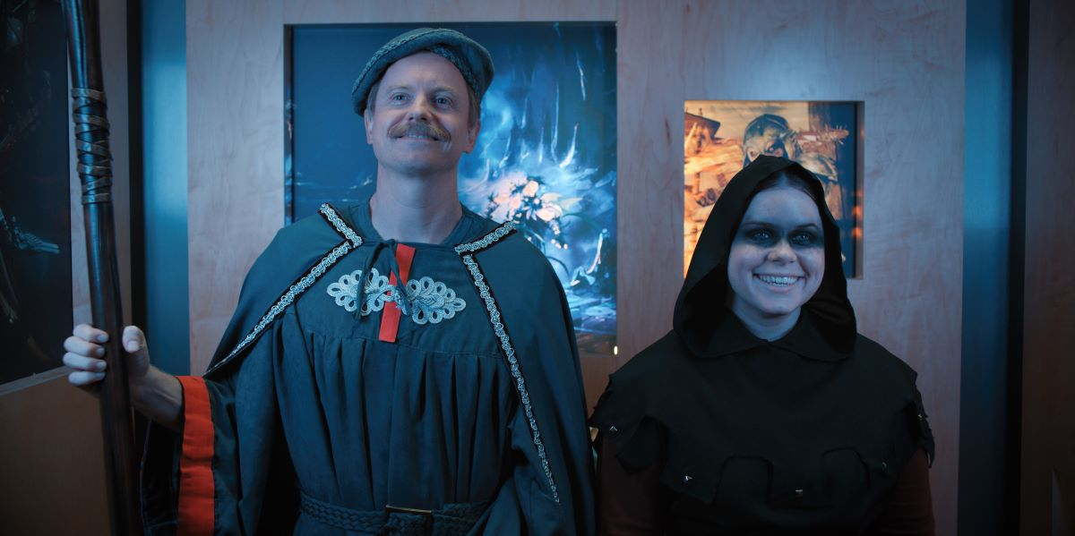 """Still of David Hornsby and Jessie Ennis in Mythic Quest episode """"Everlight."""""""