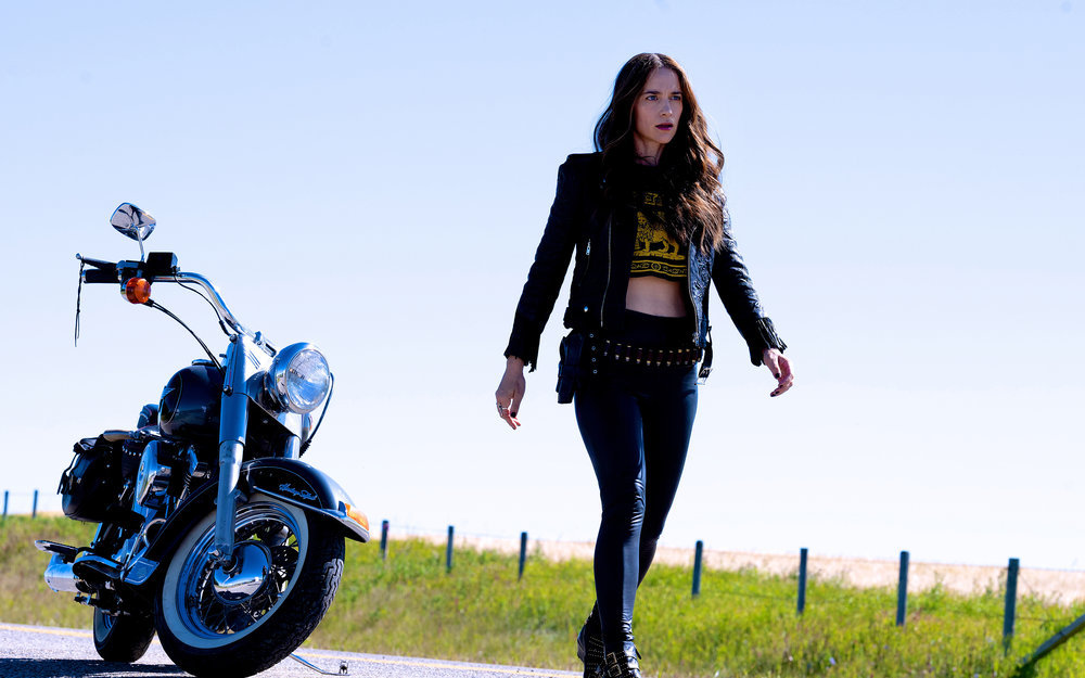 "Still of Melanie Scrofano in Wynonna Earp episode ""Old Souls."""