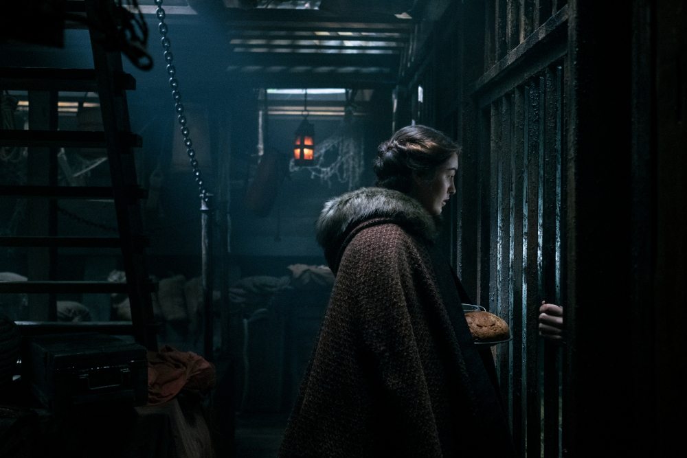 Nina visiting Matthias in the prison cell in Shadow and Bone.