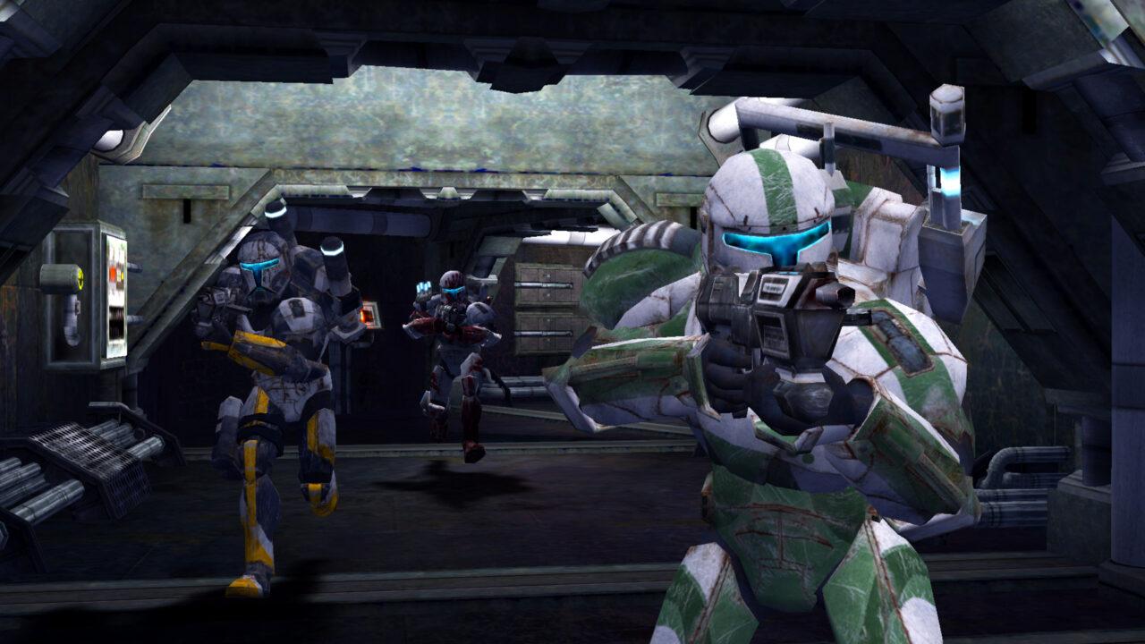 Star Wars: Republic Commando game still featuring enemy units.