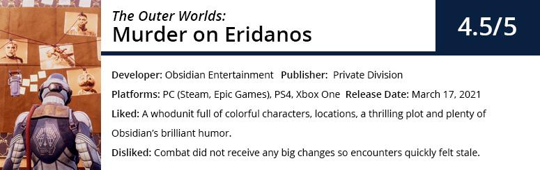 Murder on Eridanos Review Summary