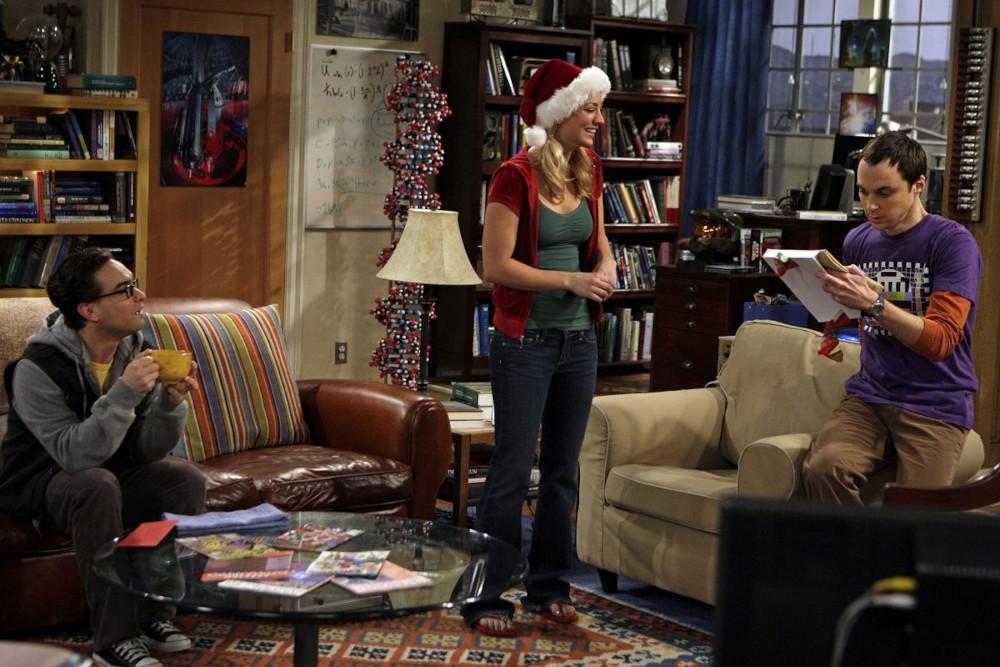 Penny gifting Sheldon a napkin signed by Leonard Nimoy.