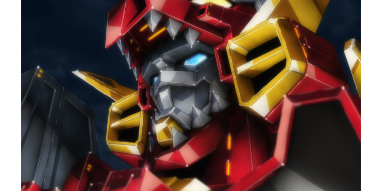 "a headshot of Dynazenon (SSSS.DYNAZENON, Episode 1, ""What's a Kaiju User?"")"