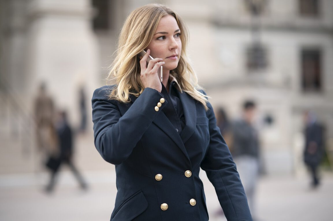 """Still of Emily VanCamp in """"One World, One People."""""""