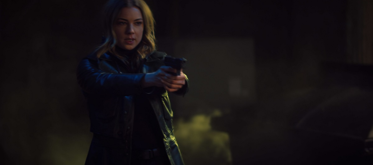 """Still of Emily VanCamp in The Falcon and the Winter Soldier episode """"Power Broker."""""""