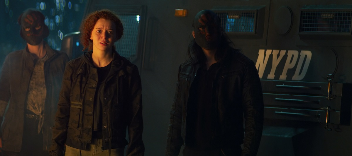 """Still of Erin Kellyman and Desmond Chiam in The Falcon and the Winter Soldier episode """"One World, One People."""""""