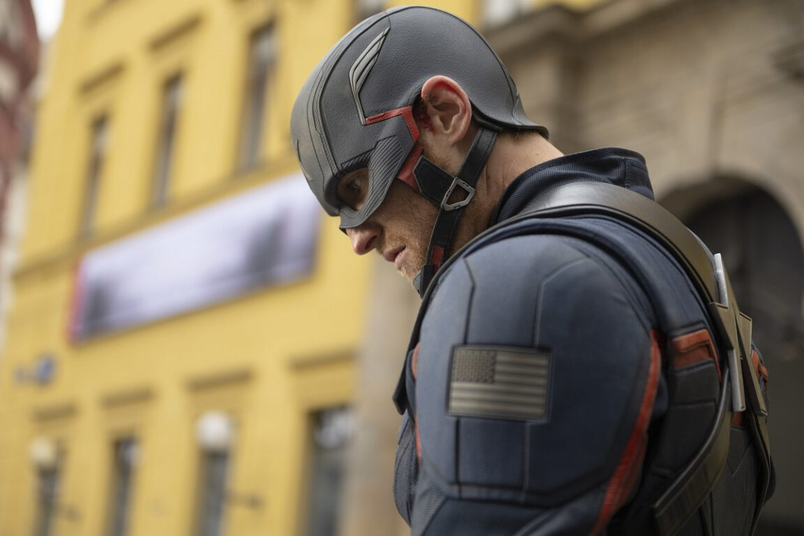 """Still of Wyatt Russell in The Falcon and the Winter Soldier episode """"The Whole World Is Watching."""""""
