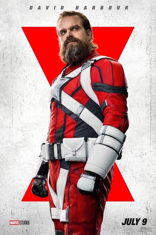 Poster of David Harbour as Alexei Shostakov in Marvel's Black Widow.