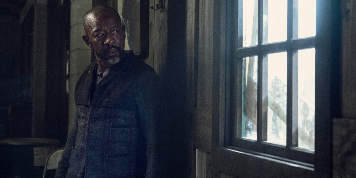 Morgan watches for approaching danger on Fear the Walking Dead