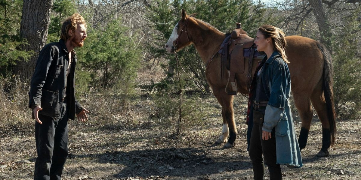 Dwight helps Sherry resolve her guilty issues on Fear the Walking Dead