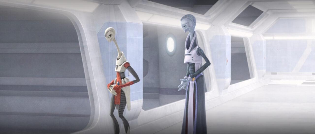 Nala Se and Lama Su discuss Kamino's standing with the Empire.