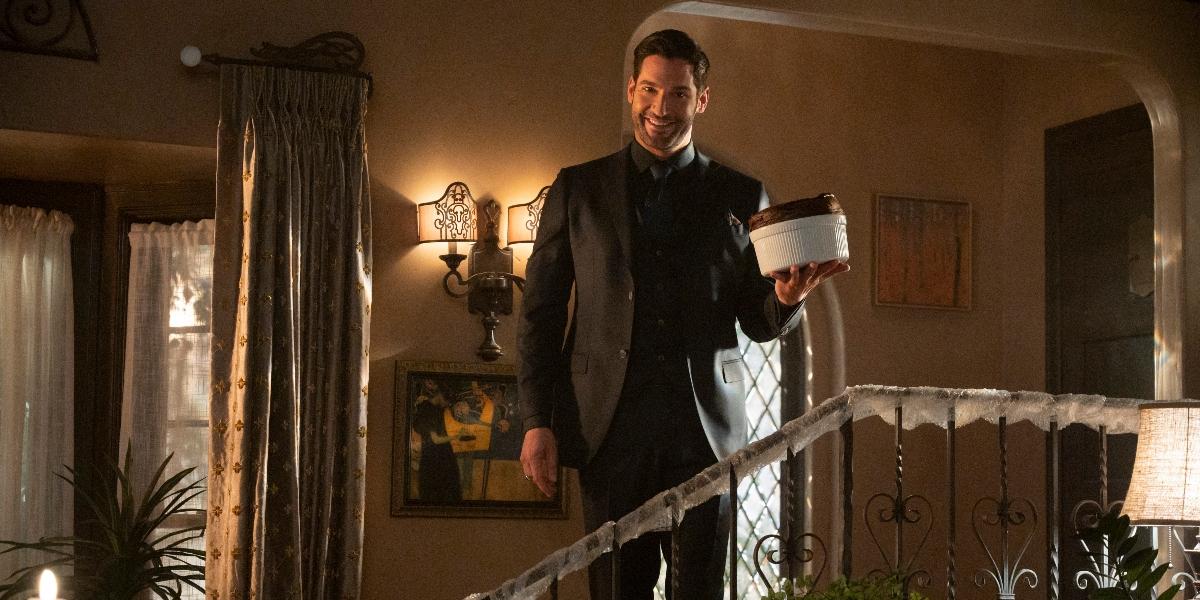 Lucifer arrives for family dinner in the mid season premiere
