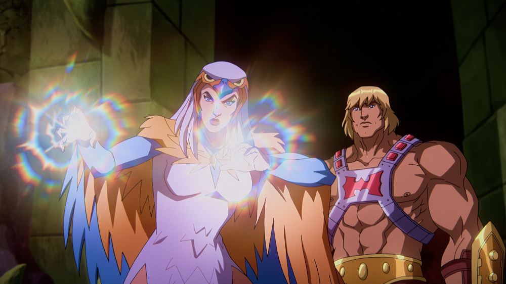 He-Man and Sorceress in Masters of the Universe: Revelation