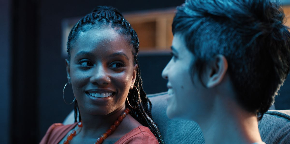 """Still of Imani Hakim and Ashly Burch in Mythic Quest episode """"Titans' Rift."""""""