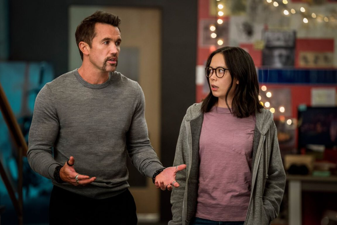 Still of Rob McElhenney and Charlotte Nicdao in Mythic Quest episode #YumYum.