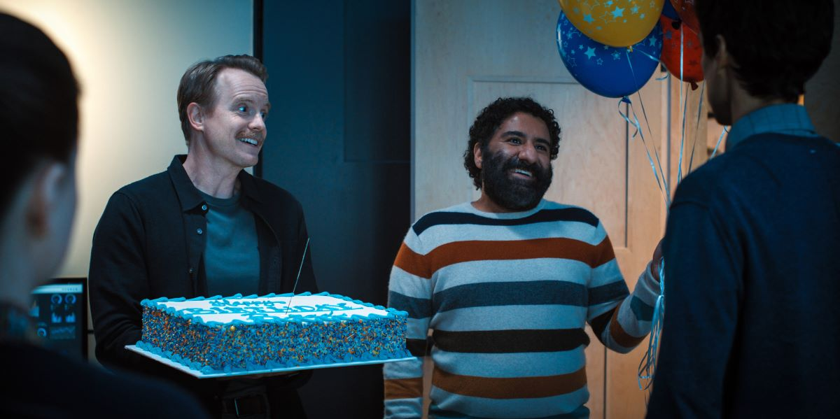 """Still of David Hornsby and Parvesh Cheena in Mythic Quest episode """"Breaking Brad."""""""