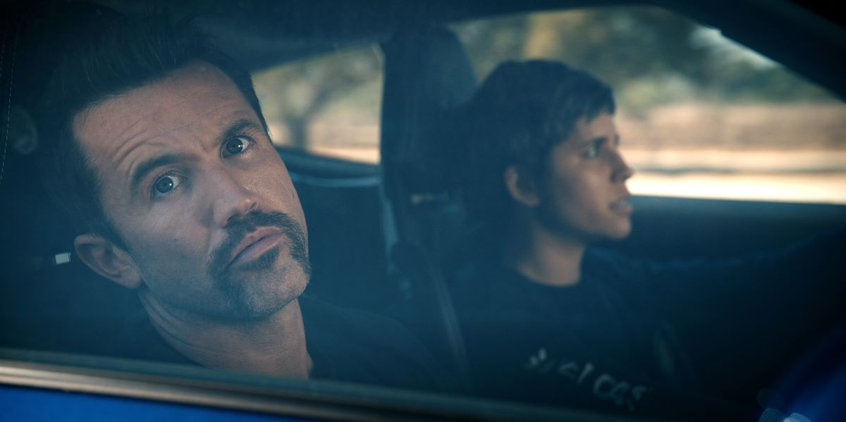 """Still of Rob McElhenney and Ashly Burch in Mythic Quest episode """"Breaking Brad."""""""