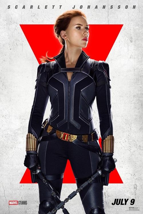 Poster of Scarlett Johansson as Natasha Romanoff in Marvel's Black Widow.