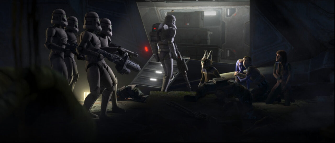 Elite Squad wipes out Saw Gerrera's camp on Onderon.